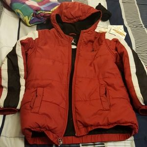 Jordan boys red coat sized 12/14 medium